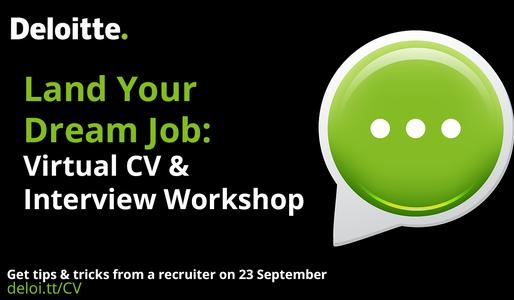 Event Deloitte Land Your Dream Job – Interview and CV Workshop body