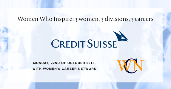 Event Credit Suisse AG Women who inspire: 3 women, 3 divisions, 3 careers body