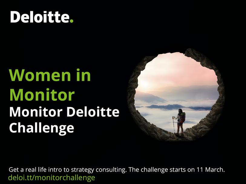 Event Deloitte Women in Monitor Challenge header