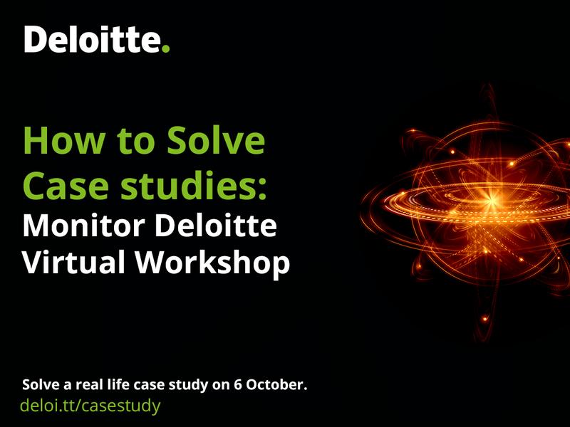 How to Solve Case studies – Monitor Deloitte Virtual Workshop